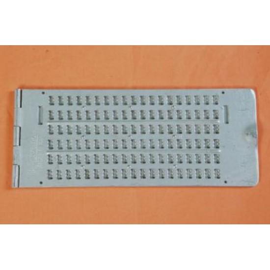 6 Line 19Cells Pocket Braille Writing Frame (Alum.)