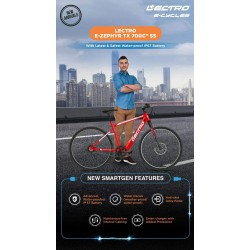 Active For All 27T Single Speed Electric Cycle (Red)