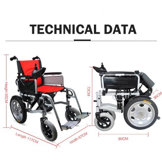 Hero Mediva Power Wheelchair with Electromagnetic Control