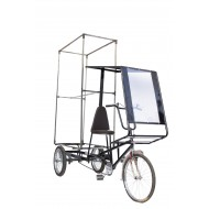 ADVERTISING CYCLE THREE-WHEELER WITH CANOPY