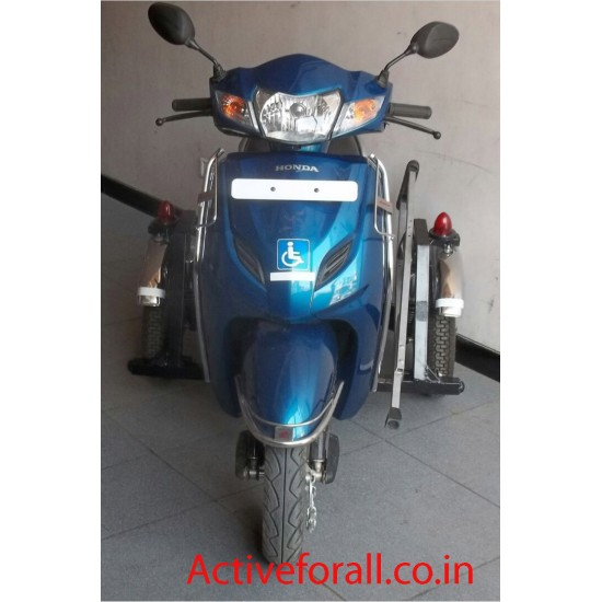 Buy Compact Side Wheel Attachment for Honda Two Wheeler