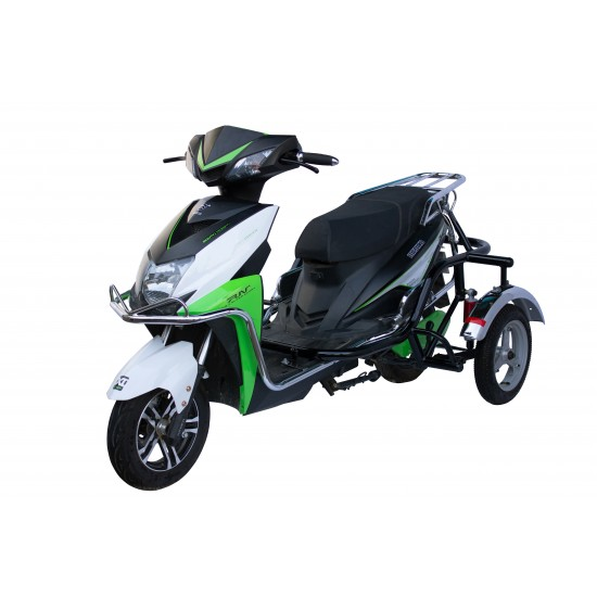 Electric Operated Scooter with Side Wheel Attachment