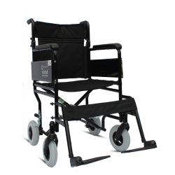 iCare Folding Attendant Transport Wheelchair